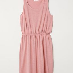 H & M - Sleeveless Jersey Dress - Pink   H&M (US)
