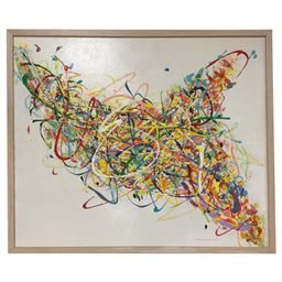 Steve Barylick Multicolor Abstract Painting   Chairish