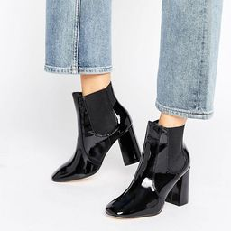 New Look Chelsea High Patent Boots   ASOS US