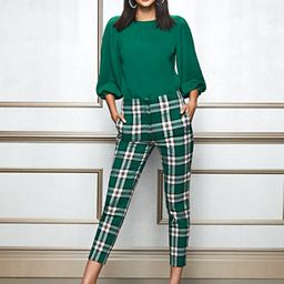 Eva Mendes Collection - Tall Elise Plaid Pant | New York & Company