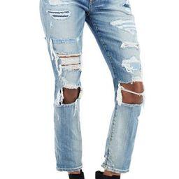 Women's True Religion Brand Jeans Ripped Straight Leg Jeans, Size 25 - Black   Nordstrom