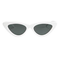 Le Specs Luxe X Adam Selman The Last Lolita White Cat Eye Sunglasses White 1Size   Intermix
