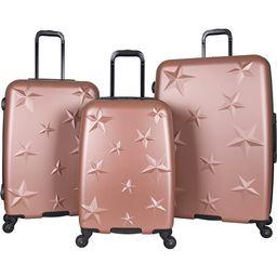 Aimee Kestenberg Star Journey 3 Piece Lightweight Hardside Spinner Luggage Set Rose Gold with Hematite Hardware - Aimee Kestenberg Luggage Sets | eBags