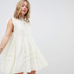 Free People Nobody Like You Embroidered Mini Dress - Ivory   ASOS UK