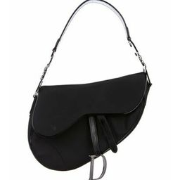 Christian Dior Nylon Saddle Bag Black Christian Dior Nylon Saddle Bag   The RealReal