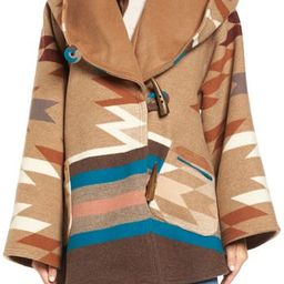 Women's Lindsey Thornburg X Pendleton Wool Blend Hooded Cape, Size One Size - Brown   Nordstrom