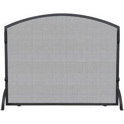 Single Panel Wrought Iron Arch Top Fireplace Screen | Wayfair North America