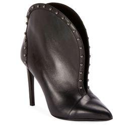 Iren Calfskin Split-Front Ankle Boot | Neiman Marcus