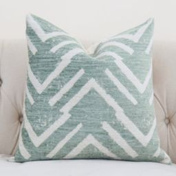 Green Geometric Pillow Cover - Sea Green Zig Zag - Throw - Sage Green Pillow - Large Scale Graphic G | Etsy (CAD)