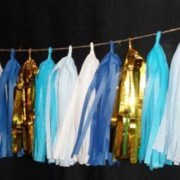 20 Tassel Its a Boy TIssue Paper Garland, Birthday Decoration, Wedding Streamers, Balloon Tassels, F   Etsy (US)