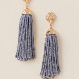 Kyla Tassel Earrings - Gray | Francesca's Collections