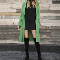 Green Duster Hooded Cardigan | Zulily