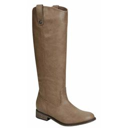 Breckelle's Women's Faux-leather Knee-high Pull-on Chunky Heel Riding Boots | Overstock