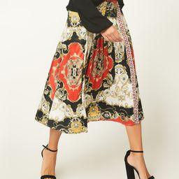 Red & Cream Status Pleated Midi Skirt - Women   zulily