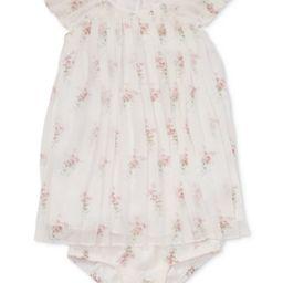 Polo Ralph Lauren Baby Girls Pleated Floral-Print Crepe Dress | Macys (US)