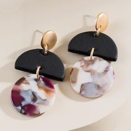 Axel Marbled Resin Earrings in Multi - Multi | Francesca's Collections