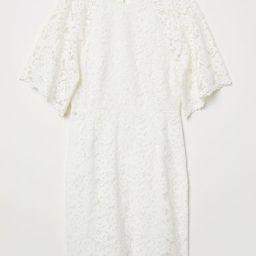 H & M - Short Lace Dress - White | H&M (US)