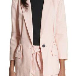 Women's Joie Lian Cotton & Linen Blazer, Size 0 - Pink | Nordstrom