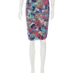 Suno Watercolor Print Pencil Skirt | The Real Real, Inc.