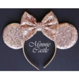 Rose gold minnie mouse ears headband, rose gold ears, rose gold birthday minnie ears, rose gold minnie ears, rose gold mickey ears   Etsy (US)