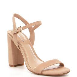 Gianni Bini Mckaria Nubuck Leather Block Heel Dress Sandals | Dillards Inc.