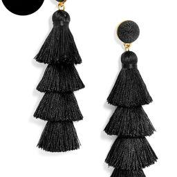 Gabriela Stud Tassel Earrings-Black   BaubleBar (US)