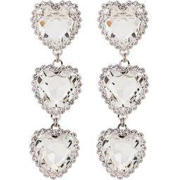 Alessandra Rich heart crystal earrings - Metallic | FarFetch Global