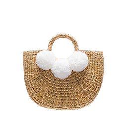 JADEtribe Pom Pom Basket in White   Revolve Clothing