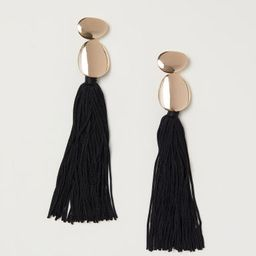H & M - Tasseled Earrings - Gold   H&M (US)