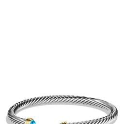'Cable Classics' Bracelet with Semiprecious Stones & Gold   Nordstrom