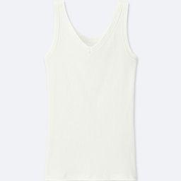 UNIQLO Women's Supima Cotton Ribbed Tank Top, White, XS | UNIQLO (US)