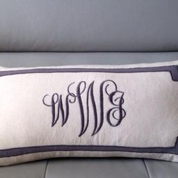 Long Lumbar Three Letter Oblong Pillows, Bedroom Decor, Personalized retirement gift, Personalized G   Etsy (US)