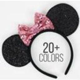 Disney ears with 4 inch Bow  Minnie Mouse ears  Minnie ears headband  Disneyland ears  Rose Gold Minnie ears  Choose color w/ 4 bow | Etsy (US)