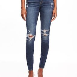 Mid-Rise Distressed Rockstar Jeans for Women   Old Navy US