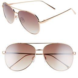 Women's Bp. 60Mm Browbar Metal Aviator Sunglasses -   Nordstrom