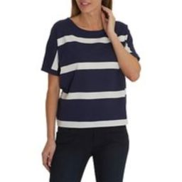 Betty & Co. Textured Striped Top, Classic Blue/White   John Lewis UK