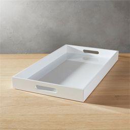 hi-gloss rectangular white tray   CB2