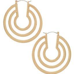 Natasha Accessories Horseshoe Hoop Earrings | Dillards Inc.
