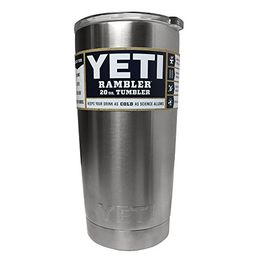 YETI Rambler 20 oz Stainless Steel Vacuum Insulated Tumbler with Lid (Stainless Steel) | Amazon (US)