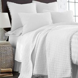 White Pom-Pom Cotton Quilt | zulily