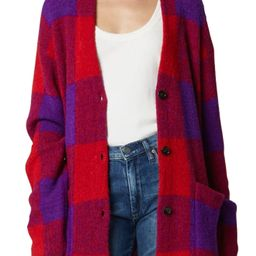 Women's Blanknyc Buffalo Check Cardigan, Size X-Small - Red   Nordstrom