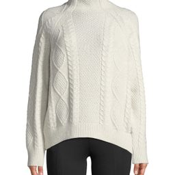 Oversized Cable-Knit Turtleneck Sweater | Lastcall