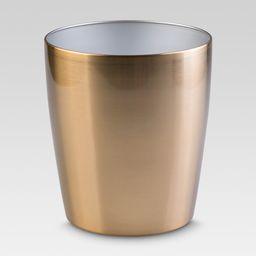 Steel Round Wastebasket Brass - Threshold | Target