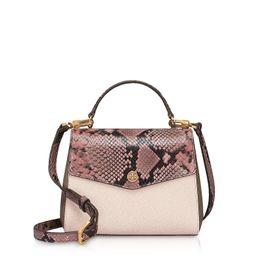 Tory Burch Animal Printed Leather Robinson Small Top-handle Satchel Bag | Italist.com US