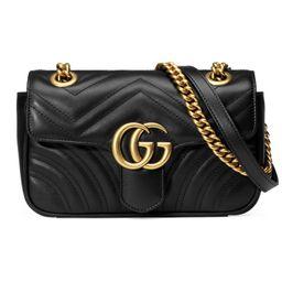 GG Marmont matelassé mini bag black | Gucci (US)