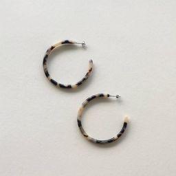 Ash Blonde Tortoise Hoop Earrings Large Open Hoop Minimalist Handmade Hoops   Etsy (US)