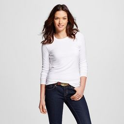 Women's Fitted LS Crew T-Shirt - Merona™ | Target