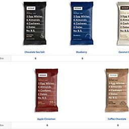 RXBAR Whole Food Protein Bar, Whole30 Compliant Variety Pack, 3 Flavors (30 Bars) | Amazon (US)