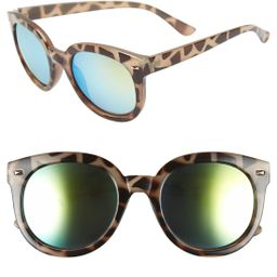 52mm Oversize Mirrored Sunglasses | Nordstrom