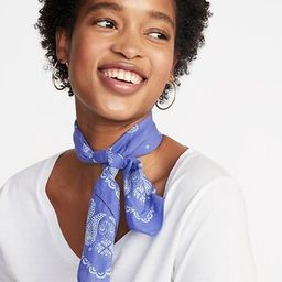 Printed Neckerchief for Women   Old Navy US